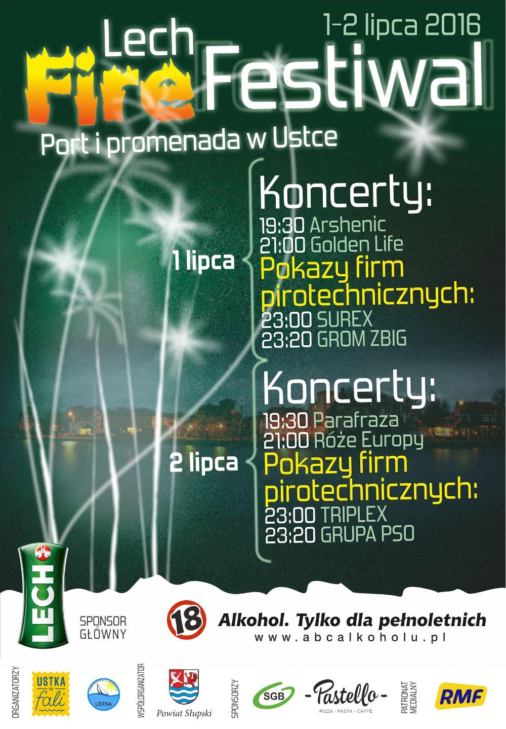 Lech Fire Festiwal 2016, plakat.