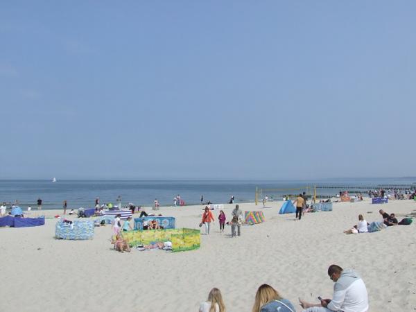 Plaża wschodnia Ustka, maj 2016