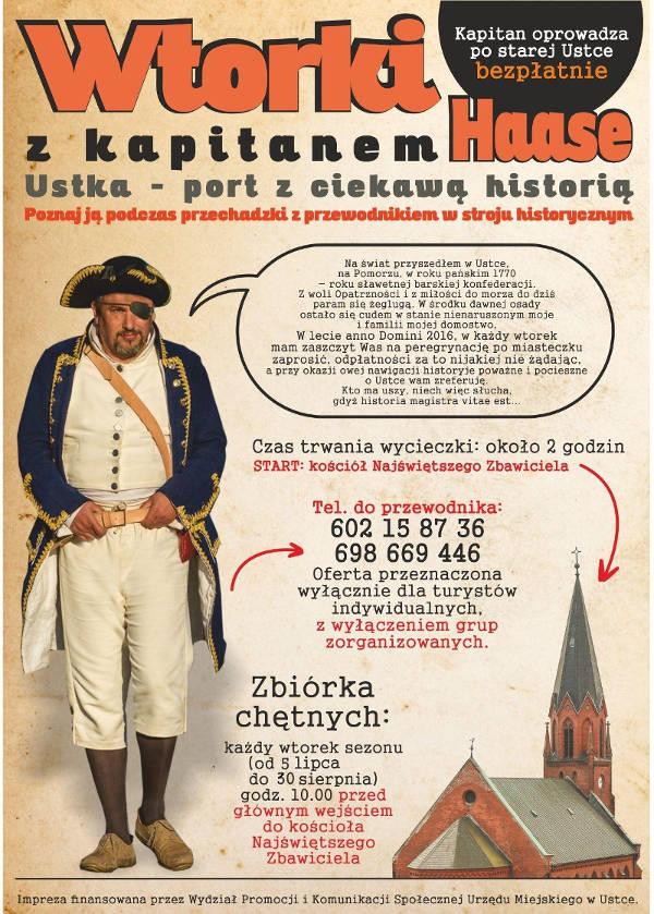 Wtorki z Kapitanem Haase – zwiedzanie Ustki 2016
