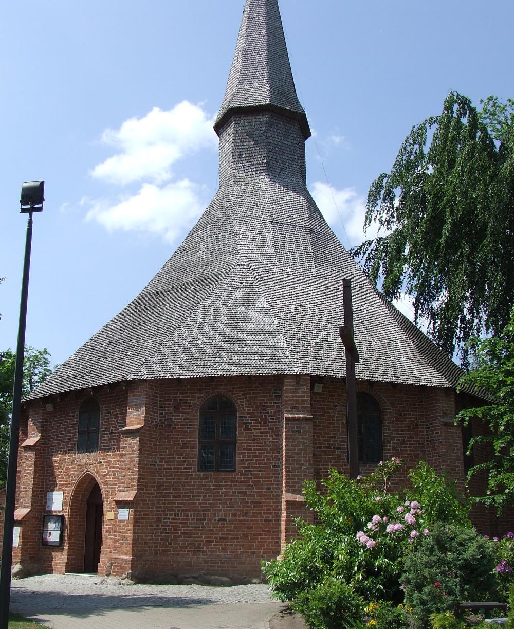Kościół św. Gertrudy w Darłowie, czerwiec 2016.