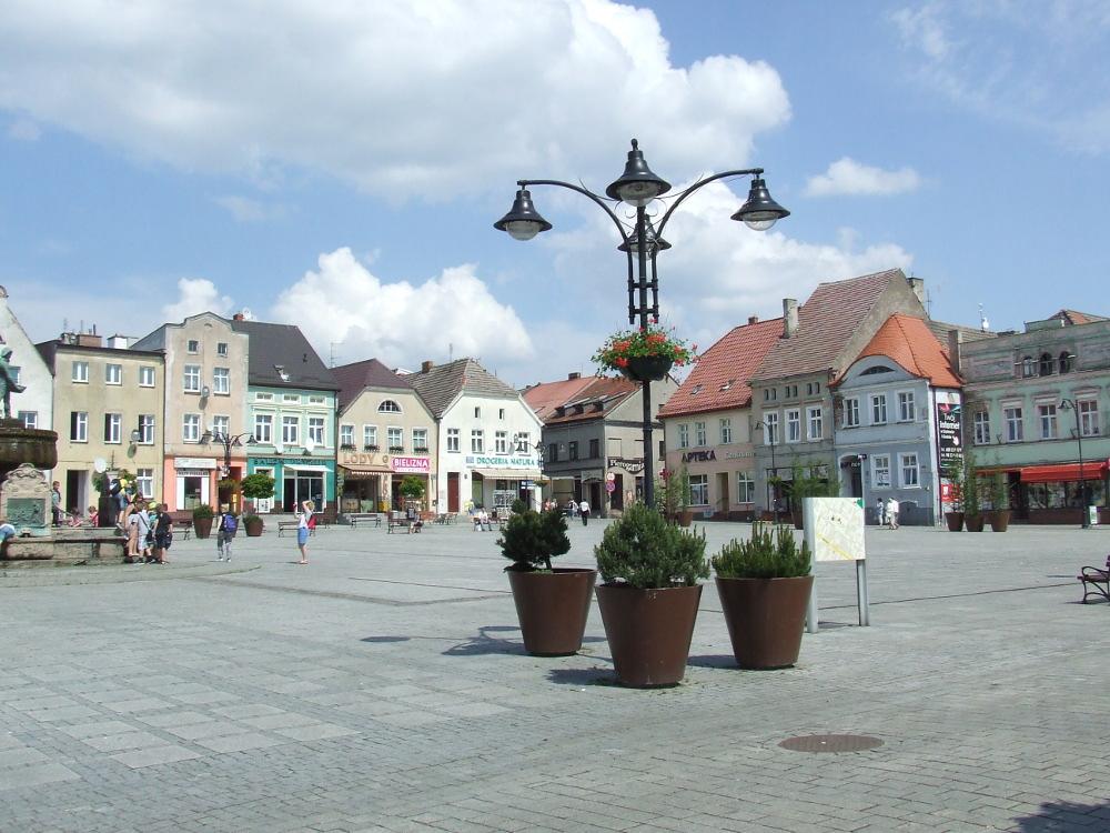 Rynek w Darłowie, czerwiec 2016.